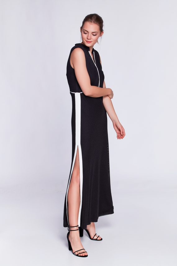 siyah örgü elbise