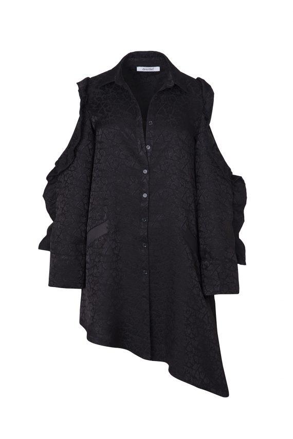 Deerdef Asimetrik Gömlek Elbise