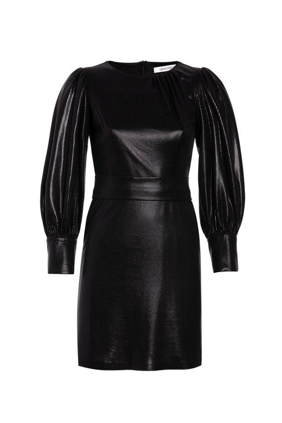 DEERDEF FW1920 Black Glow dress dekupe