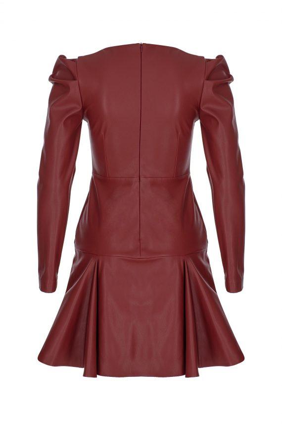 Kırmızı Deri elbise2
